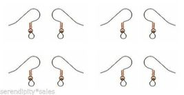 12 Surgical Steel EarWires Earrings Ear Wires ~ Copper Bead/Coil  French... - $4.11