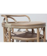 Handmade Rattan Wicker Serving Moving Cart Table - $129.99+