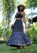 Vintage Skirt, Long Vintage Skirt, Hmong Skirt, Vintage Maxi Skirt - $179.00