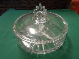 Beautiful Vintage 3 Section Glass Divided  CANDY / NUT Dish - $17.04