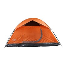 Outdoor Camping Tent, Orange Heavy Duty Waterproof 4-person Backpacking ... - $116.89