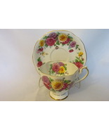 """Queen Anne English Bone China Cup & Saucer - """"Autumn Glory"""" Pattern with... - $22.99"""