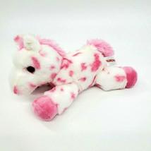 "8"" Aurora Horse Pony White Pink Spots Spotted Stuffed Plush Animal Toy G... - $12.97"