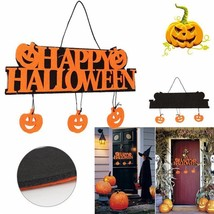Halloween Pumpkins Sign Wall Door Doorplate Plaque Hanging Haunted House... - $14.99
