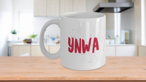YNWA Mug Red You Never Walk Alone Liverpool fc Speckled Brush Fathers Day Dad
