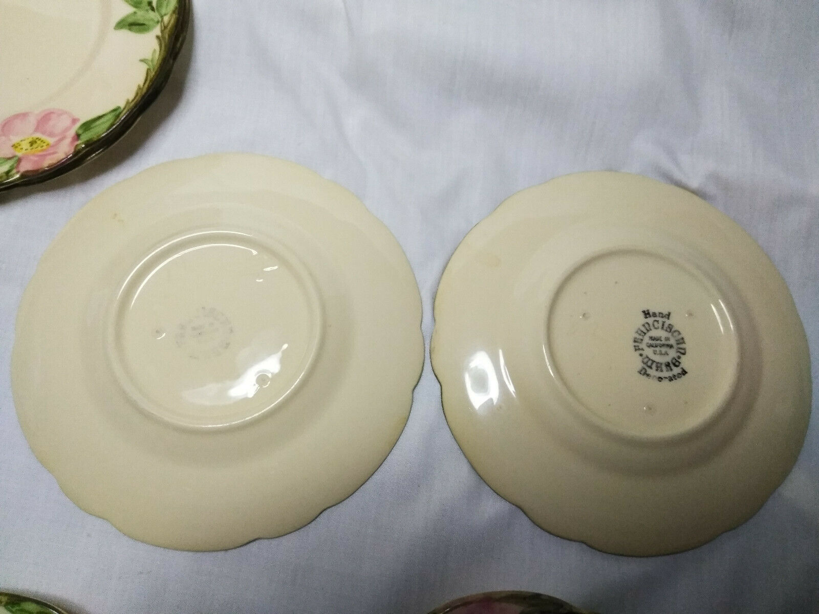 Vintage Franciscan China Desert Rose Set of 6-6.5 inch Cheese/Dessert  Plates A