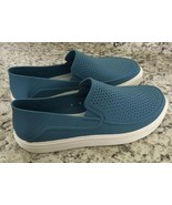 Crocs Roka mens Blue Perforated loafer Shoes Sandals Summer Size 8 - $39.55