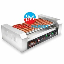 Olde Midway Electric 18 Hot Dog 7 Roller Grill Cooker Machine 900-Watt -... - $143.34