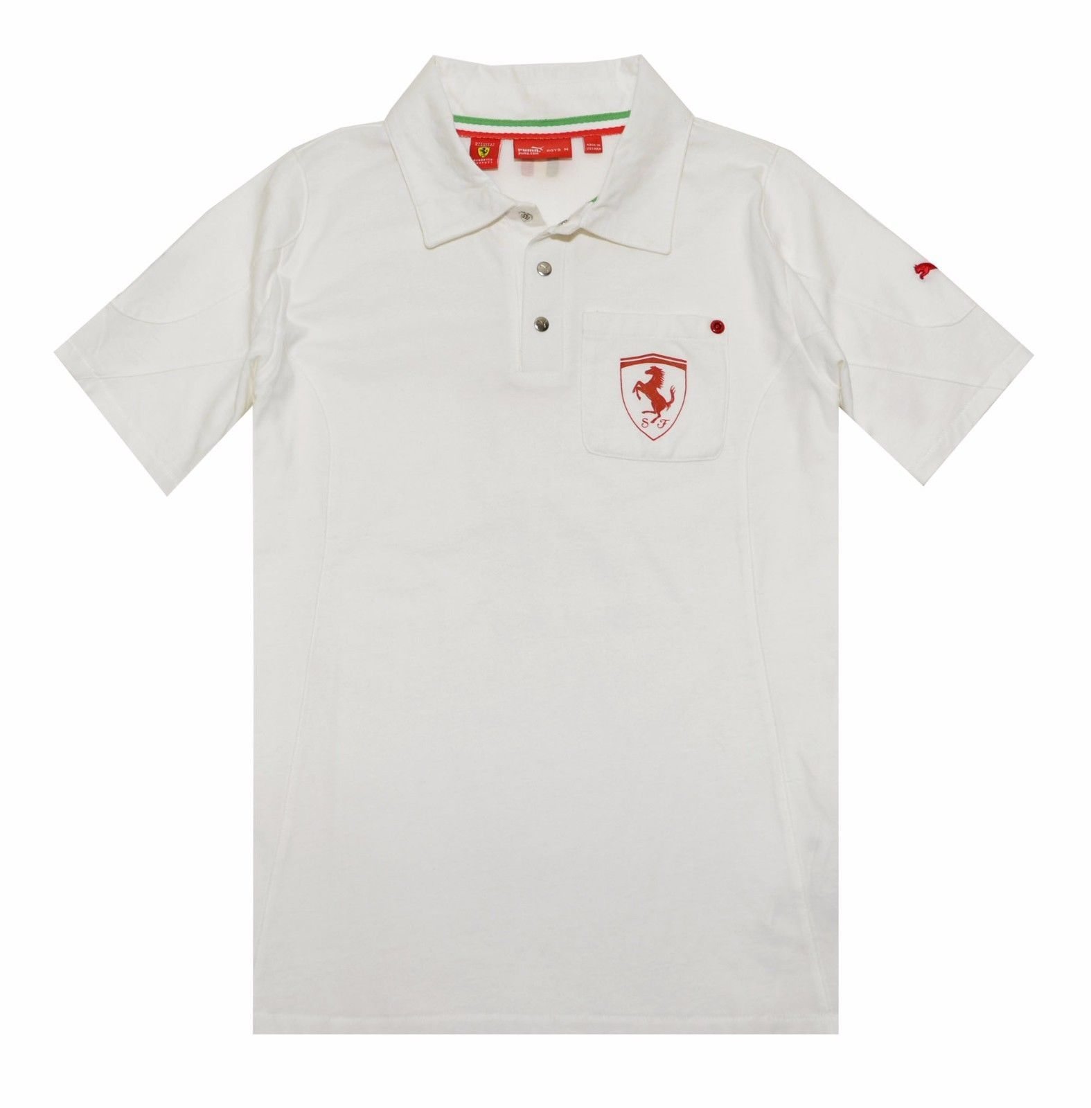 Puma Ferrari Boys Pocket Polo Shirt (Medium 6151c1a4c