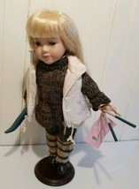 """Ashley Cooper Limited Edition Doll """"Karyn"""" in Ski Outfit w/poles & skis ... - $14.07"""