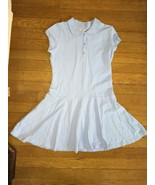 * the Childrens Place solid blue school uniform collar dress large 10 - 12 - $6.44