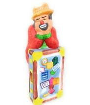 Emmitt Kelly Jr Flambro Clown Figurine with Suitcase Hobo Sad Face Porce... - $12.60