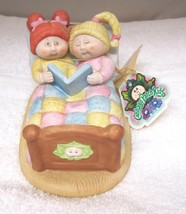 1985 Cabbage Patch Bedtime Story Porcelain Figurine w Original Tag MINT! T73 - $24.26