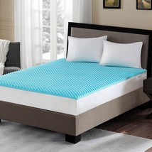 "Luxury 1.5"" Aqua Blue Cooling Gel Infused Memory Foam Mattress Topper- A... - $56.99+"