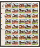 Appaloosa, Saddlebred, Morgan, Quarter Horses, Sheet of 22 cent stamps, ... - $10.00