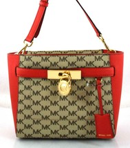 AUTHENTIC NEW NWT MICHAEL KORS $298 HAMILTON TRAVELER RED BROWN MESSENGE... - $108.00