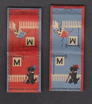 (2) Scottie Dog Matchbook Covers --Dapper Looking Pup With Cane Taking A... - $10.80