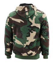 Men's Premium Athletic Soft Sherpa Lined Fleece Zip Up Hoodie Sweater Jacket image 14