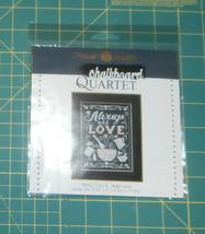 """Add Love Chalkboard Quartet Mill Hill Cross Stitch Kit 5.25"""" x 7""""  - $15.47"""