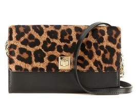 Michael Kors NWT Natalie Crossbody Chain Wallet Leather Cheetah Turn-Lock - £75.35 GBP