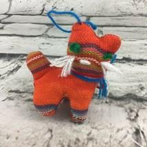 "Southwest Folk Art Handmade Plush Kitty Cat Ornament 2.75"" Collectible - $9.89"