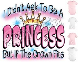 Princess Crown Funny Kids T shirt Youth tee Baby Toddler bodysuit KP64 - $12.99
