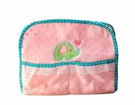 Lovely Fluffy Elephant Fabrics Tissue Holder Foldable Pink