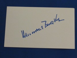 MICHAEL BURKE YANKEES PRESIDENT VINTAGE SIGNED AUTO 1970'S INDEX CARD PS... - $118.79