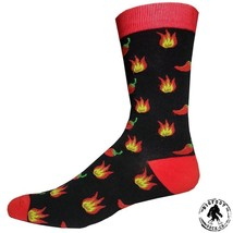 Hot Chili Peppers Socks Fun Novelty One Size Fits Most Dress Casual Big ... - $12.49