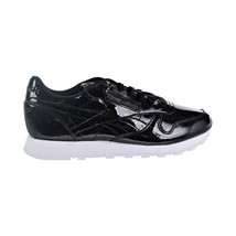 Reebok CL Leather PP Patent Pearl Women's Shoes Pearl Black-White CN0875 - $49.95