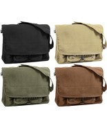 Stonewashed Vintage Style Military Paratrooper Messenger Shoulder Bag - $22.99