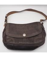 Coach Chelsea Brown Pebble Leather Flap Shoulder Bag F12336 - $24.74