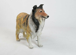 Collie Dog LIFE-SIZE Statue Sculpture replica - REALISTICALLY PAINTED - $395.01