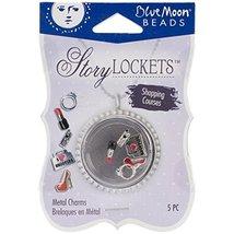 Blue Moon Beads Story Lockets Metal Charm, Shopping, Assortment, 5 per p... - $3.93