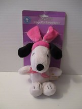 "Snoopy P EAN Uts Easter Clip Me Anywhere Stuffed Plush Toy 10"" Mint On Card - $9.89"