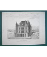 ARCHITECTURE 2 PRINTS : PARIS Suburban Villa Perspective View & Floor Plans - $16.87