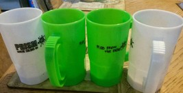 14oz frosted or neon green Plastic Beer Mugs Made USA 12& 50PC&100 AVALI... - $6.44+