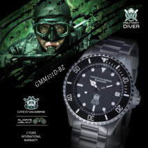 Green Marine Watches Automatic 300m Military Diver Edition GMM101D-BZ - $299.00