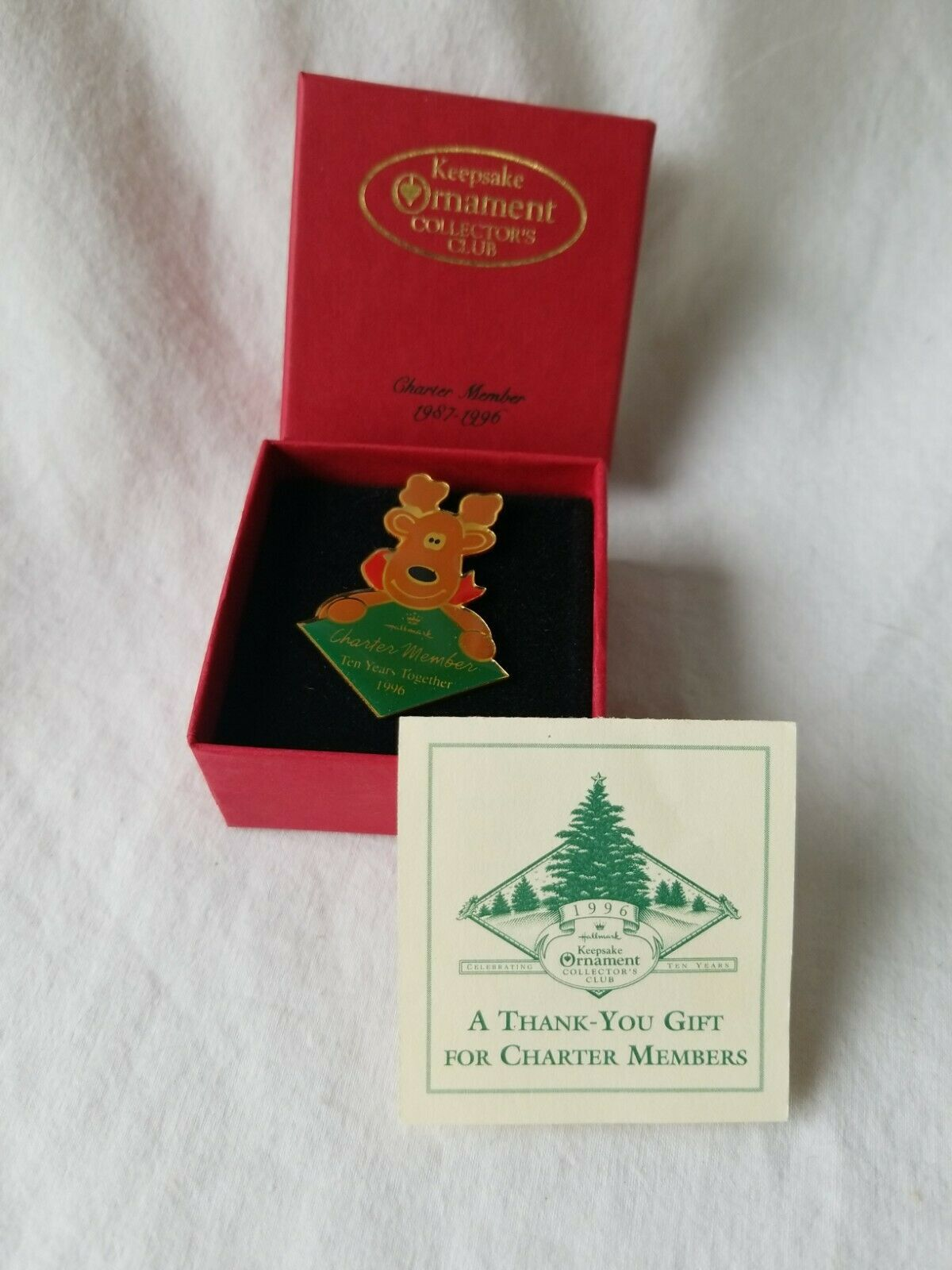 Primary image for Hallmark 1996 Collectors Club 10 Years Together Charter Member Pin
