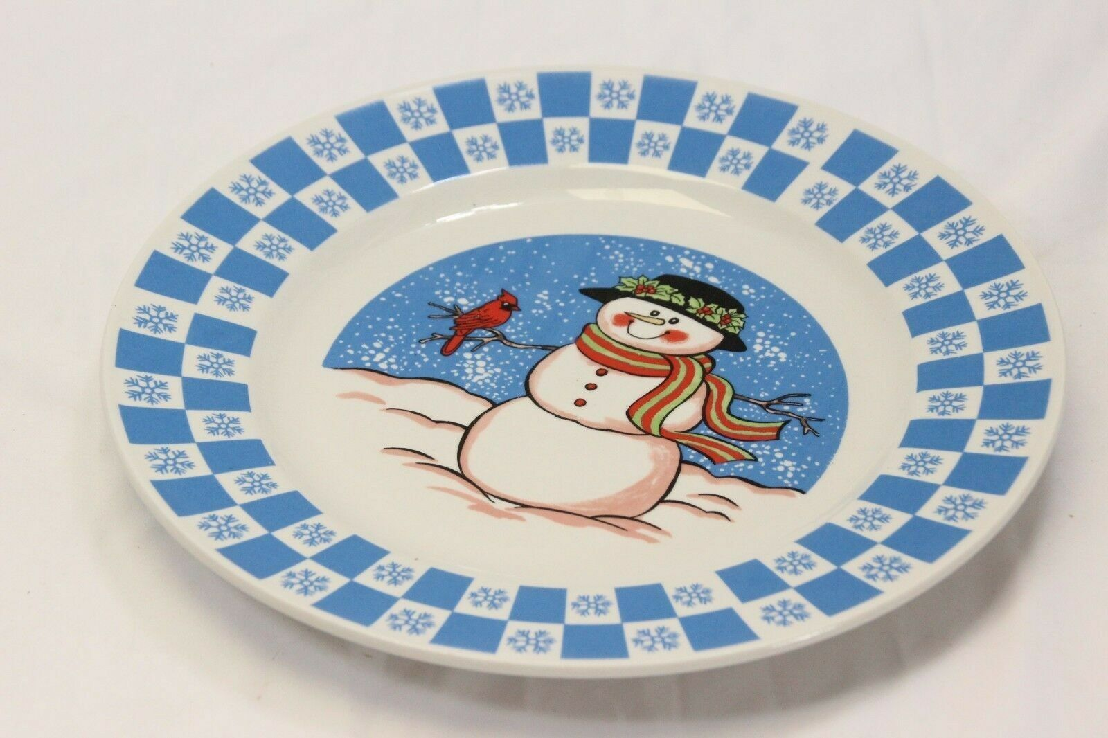 "GEI Snowman Xmas Dinner Plates 10.5"" Set of 4 image 6"