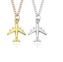 Airplane Necklaces & Pendants Silver Airplane Pendant Aircraft Choker Ne... - $7.87