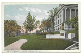 SAM DAVIS MONUMENT Capitol Grounds Nashville TN POSTCARD 1913 Curt Teich... - $14.84