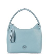 NWT Tory Burch Taylor Blue Falls Leather Hobo Shoulder Bag Purse 35582  ... - $345.00