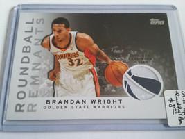 2009-10 Topps Roundball Remnants #RRBW Brandan Wright A : Golden State Warriors - $2.80