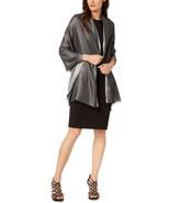 Calvin Klein Women's Lightweight Lurex Plaited Scarf (Metallic Black) - $33.44