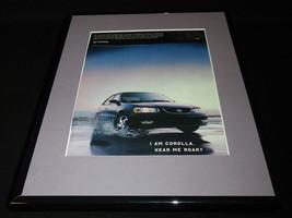 2000 Toyota Corolla Framed 11x14 ORIGINAL Vintage Advertisement - $34.64