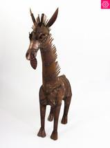 Animal Yard Art Mexican Giraffe Metal Aged Tin ... - $159.47