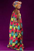 Alon kente african prints bubu dress (ESSINGAN) - $25.84