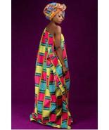 Alon kente african prints bubu dress (ESSINGAN) - £18.71 GBP