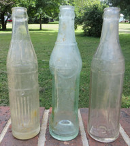 Vintage Soda Bottles Lot (3) Big Chief Sportsman's Club Quality Crown Bo... - $7.00